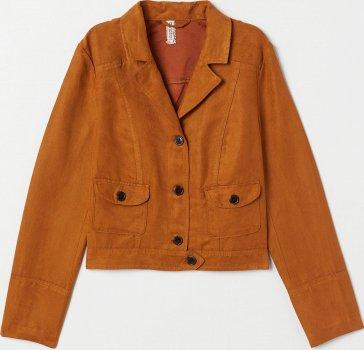 Куртка джинсова H&M 7314459 Темна кемел