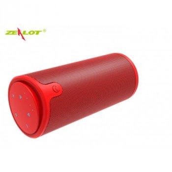 Бездротова Bluetooth колонка Zealot S8 Original з функцією Power Bank + зручний чохол кріплення з карабіном для носіння з собою і для велосипеда Червона