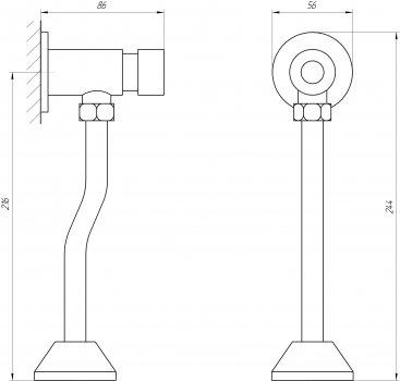 Кнопка смыва для писсуара TOPAZ TP-0201