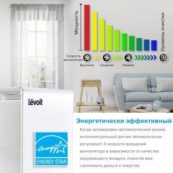 ОЧИСТИТЕЛЬ ВОЗДУХА LEVOIT LV-H131 С НАСТОЯЩИМ HEPA-ФИЛЬТРОМ, АКТИВИРОВАННЫМ УГЛЕРОДОМ, ФИЛЬТРАЦИЯ 99,97%