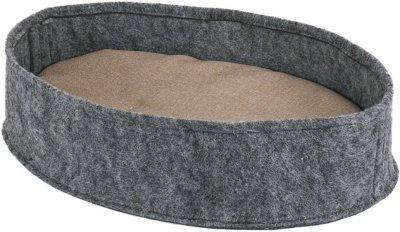 """Лежанка овальна з фетру c подушкою для собак і кішок Форт Нокс FX home """"Манеж"""" 45х32х10 см (2820000013255)"""