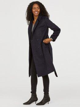 Пальто для беременных H&M 5036546 Темно-синее