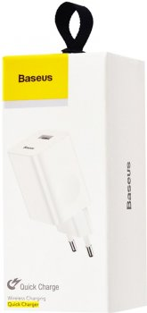 СЗУ Baseus Wall Charger QC3.0 CCALL-BX02 White (165726)