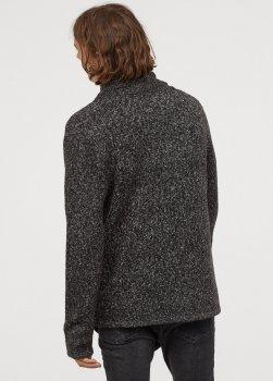 Кардиган H&M вязаный темно-серый 25-0002
