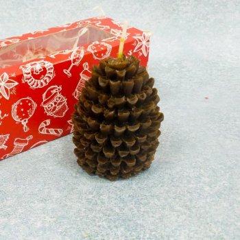 Свічка декоративна з маслами шишка 10112003