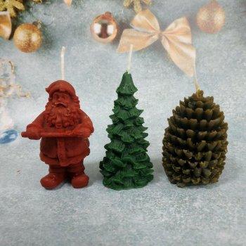 Набір Свічок Новорічний з 3 предметів в подарунковій упаковці 10112009