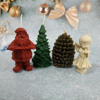 Набір Свічок Новорічний з 4 предметів у подарунковій упаковці 10112010