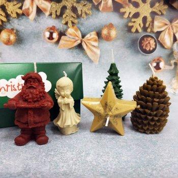 Набір Свічок Новорічний з 5 предметів в подарунковій упаковці 10112011
