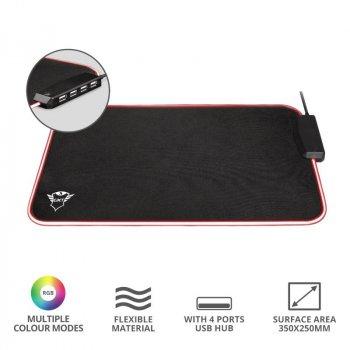 Коврик Trust GXT 765 Glide-Flex RGB Mouse Pad with USB Hub Black (23646_TRUST)
