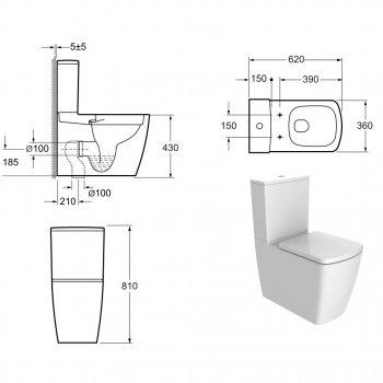 Унітаз-компакт DEVIT Country 2.0 безободковый з сидінням Soft Close Quick-Fix дюропластів (3010125)