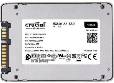 "SSD-накопичувач MICRON 2.5"" 1TB (CT1000MX500SSD1)"