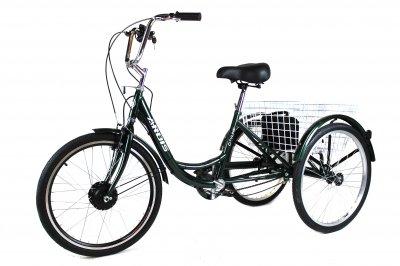 Трёхколесный Электровелосипед СARGO CITY BIKE литий ионный АКБ 8А с корзиной