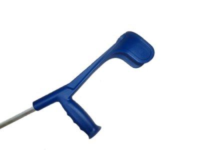 Костыль подлокотный OSSENBERG Klassiker SOFT Мягкая рукоятка Ergo Синий 220 DSKBl