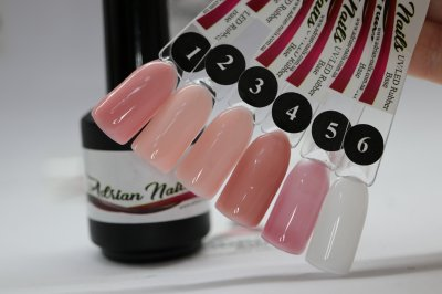 Каучукова молочна база - Rubber Base Milk Adrian Nails №6 - 250грамм