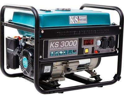 Генератор бензиновый Konner&Sohnen с ручным запуском (KS 3000)