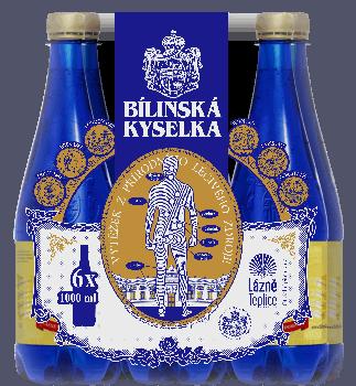 Упаковка лечебной минеральной воды Билинска Киселка (BILINSKA KYSELKA) BHMW 1 л x 6 шт