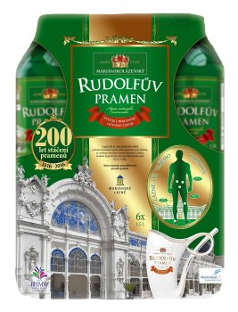 Упаковка лечебной минеральной воды Рудольфов Прамен (RUDOLFUV PRAMEN) BHMW 1.5 л x 6 шт