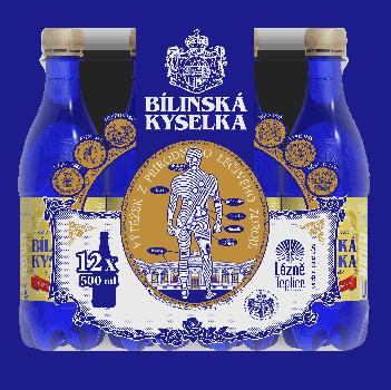 Упаковка лечебной минеральной воды Билинска Киселка (BILINSKA KYSELKA) BHMW 0.5 л x 12 шт
