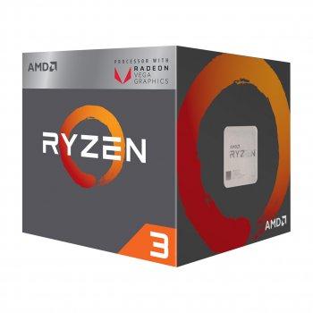 Процессор AMD Ryzen 3 2200G (3.5GHz 4MB 65W AM4) Box (YD2200C5FBBOX) с интегрированной графикой для ПК