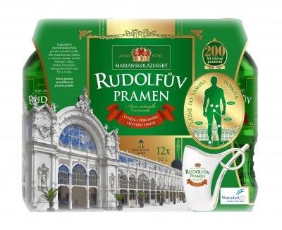 Упаковка лечебной минеральной воды Рудольфов Прамен (RUDOLFUV PRAMEN) BHMW 0.5 л x 12 шт