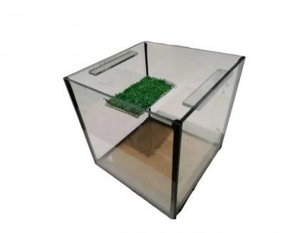Террариум Фауна с мостиком для черепахи 17х17х17 см 5 л