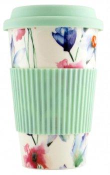 Чашка Keramia Flower Story с силиконовой крышкой 440 мл (21-279-062)