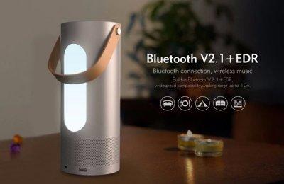 Портативная bluetooth колонка Havit HV-M9 с объемным звуком, Power Bank и многоцветным светодиодным цветом Silver