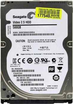 """Жорсткий диск 500ГБ Seagate 5400об/м 16МБ 2.5"""" SATA II (ST500VT000)"""