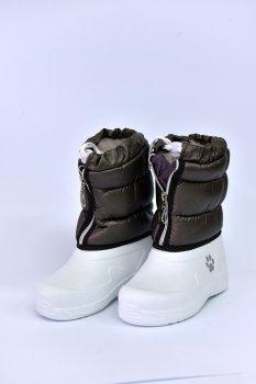 Сапоги Kredo Бело-коричневые (4578)
