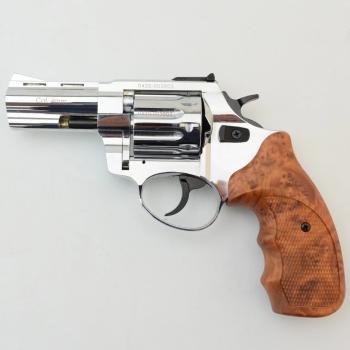 """Револьвер флобера STALKER 3"""" 4 мм Никель. Пластик коричневый"""