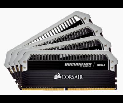Пам'ять Corsair 32 GB (4x8GB) DDR4 3000 MHz Dominator Platinum (CMD32GX4M4C3000C15)