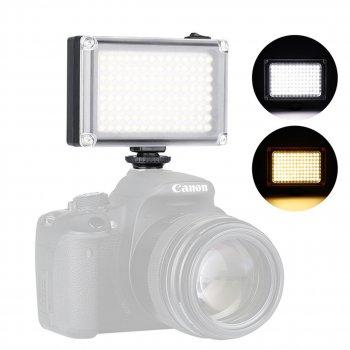 Источник света накамерный постоянный свет Ulanzi 112LED microUSB 5500К для фото и видео камер 2 матовых фильтра (3045LZ)