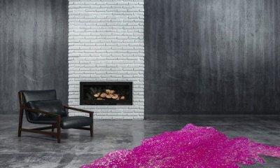 Барвистий килим з натуральної шкіри з металізованими акцентами Kayoom Glam 410 (F2DPO)