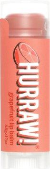Бальзам для губ Hurraw! Grapefruit Lip Balm Грейпфрут 4.8 г (851228005076)