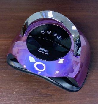 Лампа для маникюра гель лаком SUN BQ-5T Mirror Violet, 120 Вт