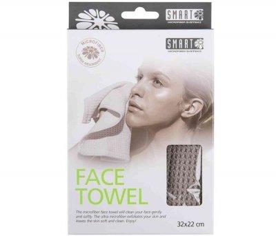 Серветка вафельна для особи Smart Face towel сіра 32х22см
