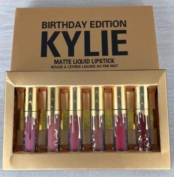 Набір з 6 матових помад Kylie Birthday Edition