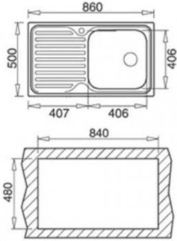 Кухонная мойка TEKA CLASSIC 1B 1D 10119056 полированная