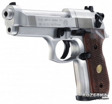 Пневматичний пістолет Umarex Beretta 92 FS Nickel/wood (419.00.03)