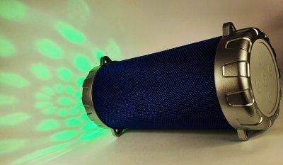 Портативна бездротова Bluetooth стерео колонка Bazuka SPS S07 з світломузикою Синя (S07 Blue)