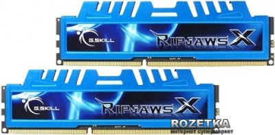 Оперативная память G.Skill DDR3-1600 8192MB PC3-12800 (Kit of 2x4096) RipjawsX (F3-12800CL7D-8GBXM)