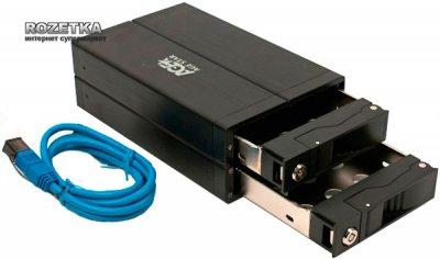 """Внешний карман Agestar для HDD 3.5"""" USB3.0/2xSATA RAID (3U 2B 3A (Black))"""