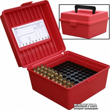 Коробка МТМ R-100-MAGNUM для патронів 300 WM 100 шт. Червоний (17730468)