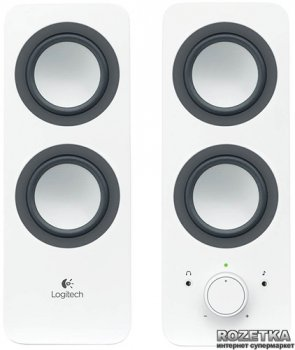 Акустическая система Logitech Multimedia Speaker Z200 Snow White (980-000811)