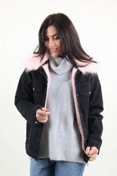 Куртка женская M.J. 1510 искусственный мех (Черный )