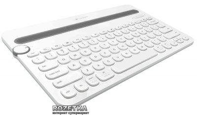 Клавіатура Logitech Bluetooth Multi-Device Keyboard K480 White (920-006369)
