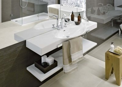 Раковина LAUFEN Palace New 120 H8127040001041 мебельный с держателем полотенца