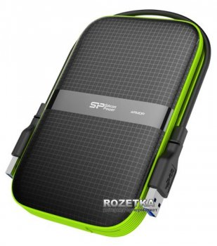 "Жорсткий диск Silicon Power Armor A60 2TB SP020TBPHDA60S3K 2.5"" USB 3.0 External Black"