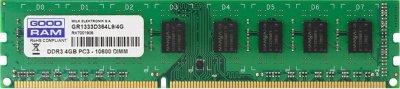 Оперативна пам'ять Goodram DDR3-1333 4096MB PC3-10600 (GR1333D364L9S/4G)