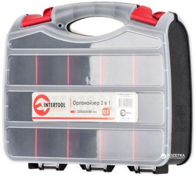 """Пластиковый органайзер 2 в 1 для инструментов Intertool 12.5"""" 320 х 260 х 80 мм (BX-4004)"""